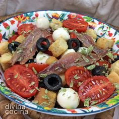 Ensalada de tomates y anchoas < Divina Cocina                              …