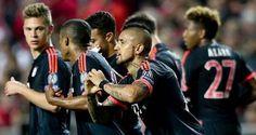 Champions: Bayern Munich eliminó a Benfica en su visita a Portugal y pasó a las semis. April 14, 2016.