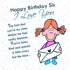TOP 10 HAPPY BIRTHDAY WISHES FOR SISTER HD IMAGES Happy Birthday Little Sister, Happy Birthday My Love, Sister Birthday Quotes, Happy Birthday Pictures, Birthday Photos, Funny Wishes, Birthday Wishes Quotes, Happy Birthday Wishes, Birthday Greetings