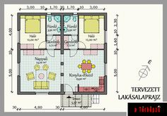 Sátortetős kockaházból kulcsos ház House Plans, New Homes, Floor Plans, Container Homes, How To Plan, Houses, Storage Container Homes, Homes, Container Houses