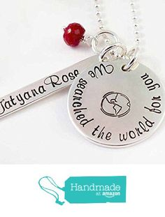 We Searched the World for You Adoption Necklace Sterling Silver and Semi Precious Stone from Hope of My Heart Designs http://www.amazon.com/dp/B015UMCS7K/ref=hnd_sw_r_pi_dp_PKugwb0NP5HQT #handmadeatamazon