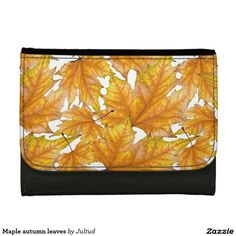 Maple autumn leaves women's wallet  #wallets #gifts #fashion