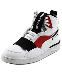 PUMA Alexander Mcqueen By Puma Mcq Brace Mid Men Round Toe Leather White Sneakers'. #puma #shoes #sneakers