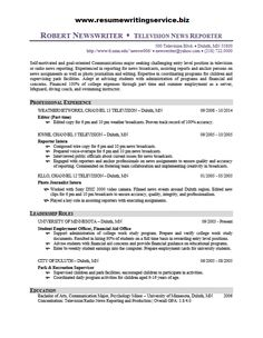 Journalism Resume Resume Samples Resume_S On Pinterest