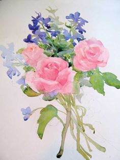 Painting Roses and Delphiniums - Web Features - Blogs - Artist Daily
