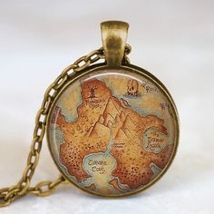 Peter Pan Neverland map antique bronze by starmekcreations, This is such a cute necklace! Peter Pan Jewelry, Neverland Map, Peter Pan Neverland, Map Necklace, Cute Necklace, Pendant Necklace, Necklaces, Resin Pendant, Shopping