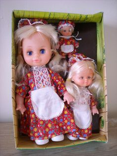 Vintage Dolls Set of 3 'Us Three' Boxed | 4.99+5.2 best