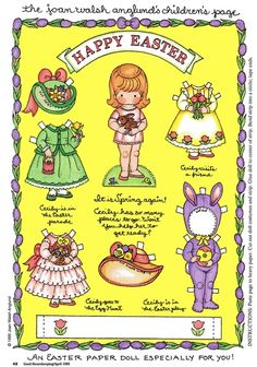Massive flashback to my childhood! Loved JOAN WALSH ANGLUND paper dolls as a little girl! (Although I was well past paper dolls by Joan Walsh, Paper Dolls Printable, Printable Vintage, Free Printable, Easter Printables, Happy Spring, Spring Time, Hoppy Easter, Vintage Paper Dolls