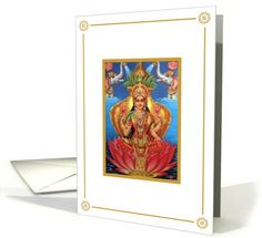 Diwali - Mother Lakshmi | Greeting Card Universe by Caribbean Ink