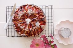 Plum Cake - it is in season :-) Chocolate Fudge Slice, Mint Chocolate, Broken Biscuits, Plum Cake, Cake Tins, Food Processor Recipes, Sweet Treats, Cooking Recipes, Baking