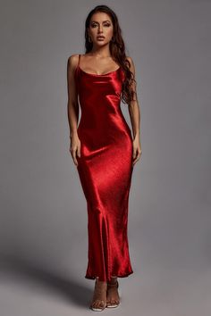 Red Wedding Guest Dresses, Red Slip Dress, Slip Dresses, Formal Dresses, Sexy Outfits, Fashion Outfits, Bella Dresses, Little Red Dress, Backless Maxi Dresses