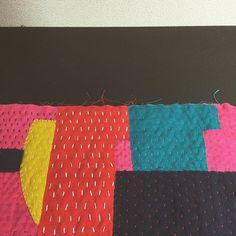 "masami yokoyama stitch work 2015 ""collage+sashiko"""
