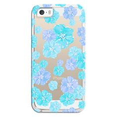 iPhone 6 Plus/6/5/5s/5c Bezel Case - Blossoms Aqua Turquoise -... ($35) ❤ liked on Polyvore featuring accessories, tech accessories, iphone case, clear iphone cases, flower iphone case, apple iphone cases and transparent iphone case