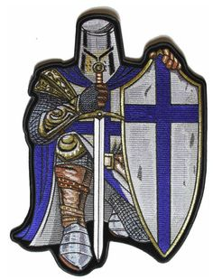 US NAVY SEAL Blue Crusader Knight Large Back PATCH