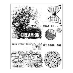 "Finnabair - Cling Stamp - Dream on (6X7.5"")"" Price € 9,99"