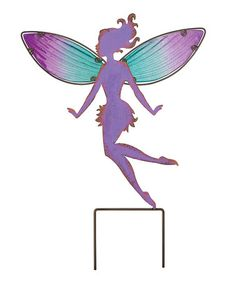 This Large Purple Fairy Garden Stake is perfect! #zulilyfinds