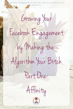 Working with the Facebook Algorithm to grow your engagement.  Affinity helps build relationships and relationships help grow your following - check out these tips to help you grow your engagement.