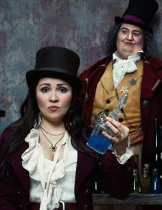 Anna Netrebko as Adina and Ambrogio Maestri as Dulcamara in Donizetti's L'Elisir d'Amore directed by Bartlett Sher.