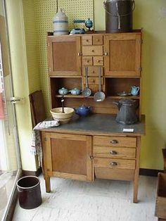 pictures of 1930's kitchens | Hoosier Style Kitchen Cabinet, 1930′s