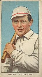 1909-11 The American Tobacco Company T206 White Border #495 Heinie Wagner (Bat On Left Shoulder) Front