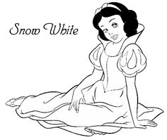 Disney Coloring Pages - Snow White (printable, copics, coloring page)