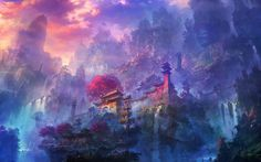 To start the year in right way, we invite you to discover 15 illustrations of the very talented Chinese artist Shuxing Li. This illustrator delight us, notably with his fantastic environments where flying islands and giant waterfalls are everywhere. The colors he used are also beautiful. View more works on his blog.