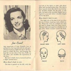 Jane Russell pin curl setting pattern