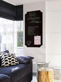 Chalkboard Wall Decal Rectangular Simpleshapes Simple Shapes - Wall decals you can write on