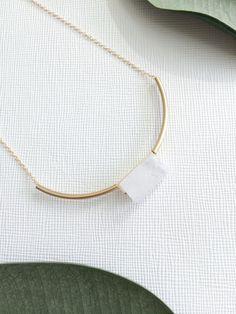MIES necklace - crystal quartz by morningritualjewelry on Etsy https://www.etsy.com/listing/227895273/mies-necklace-crystal-quartz