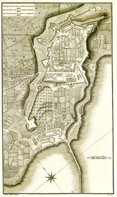 1806. Tarragona, Alexandre Laborde, 'Voyage pittoresque et historique ...' (INHA). City map justat the beginning of the nineteenth century, then still locked in the old Roman and medieval walls and curled up the hill, away from the harbor and the sea.