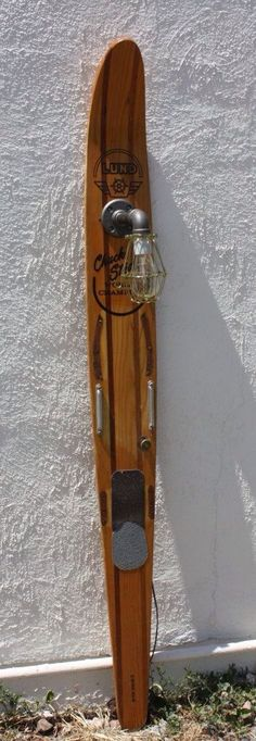 Upcycled Lund water ski.....