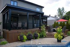 Patio Plus – Multi level Decks - Modern Pergola With Roof, Patio Roof, Pergola Patio, Back Patio, Backyard Patio, Pergola Kits, Pergola Ideas, Small Patio Design, Patio Deck Designs
