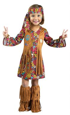 Toddler Peace and Love Hippie Costume - Candy Apple Costumes - Kids' 70's Costumes