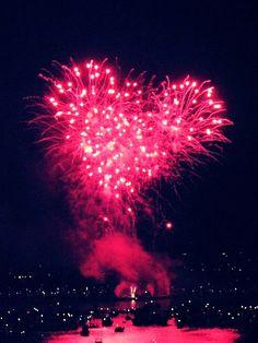 firework, heart, photography, pink