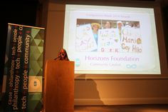 Lora O'Connor of Compassionate California preseting Horizons Foundation's Community Catalyst Award