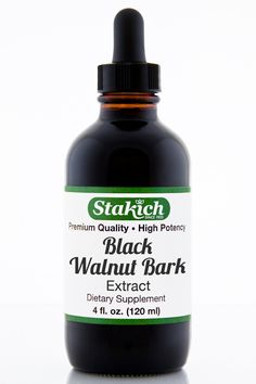 Botanical Name: Juglans nigra Part used: Bark Stakich Herbal Extracts are cold…