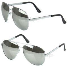 5ae751cfaa Mens Oversized Pilot Silver Mirrored Lens Metal Frame Vintage Sunglasses  Shades  affilink  vintagesunglasses