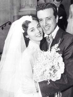 TWIN:  Pier Angeli and Vic Damone on their wedding day.