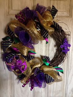 My Mardi Gras wreath