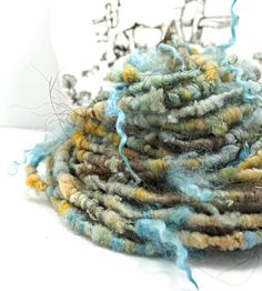 Handspun Art Yarn Corespun Sheeping Beauties  by SheepingBeauty, $32.00