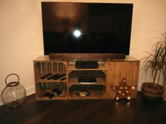 Apple crate TV unit