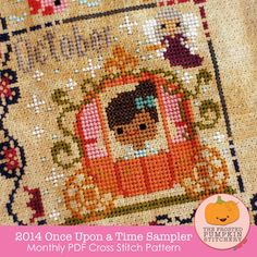 Image of 2014 Once Upon A Time Sampler PDF Cross Stitch Pattern from The Frosted Pumpkin Stitchery