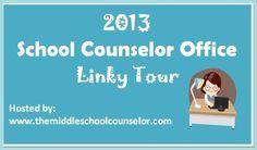 The Middle School Counselor: School Counselor Office--Linky Tour School Counselor Office, Counseling Office, School Social Work, Guidance Office, Teacher, Classroom, Tours, Space, Office Decor