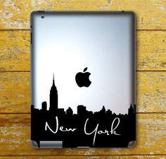 New York Skyline With Writing IPad Decal - IPad 1 - IPad 2 - IPad 3 - IPad Sticker on Etsy, $7.99