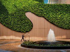InterContinental Nha Trang in Vietnam - Room Deals, Photos & Reviews Green Architecture, Landscape Architecture, Landscape Design, Architecture Design, Garden Design, Vertical Green Wall, Vertical Bar, Jardin Vertical Artificial, Compound Wall