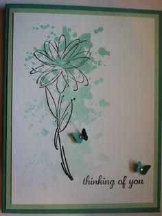 Card Corner by Candee: Splatter Card using gorgeous grunge