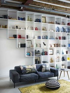 living room-library!