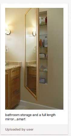 Full Length Recessed Medicine Cabinet Bathroom Built Ins Pinterest Recessed