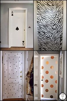 Have you thought about complementing your home decor by adding a wallpaper on the door? However, you still have doubts about which color and model to choose to Painted Bedroom Doors, Painted Doors, Diy Room Decor, Bedroom Decor, Home Decor, Deco Cool, Diy Wallpaper, New Room, Door Design