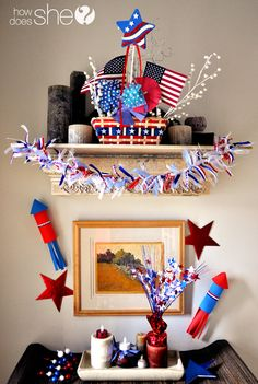 4th of July wall grouping.